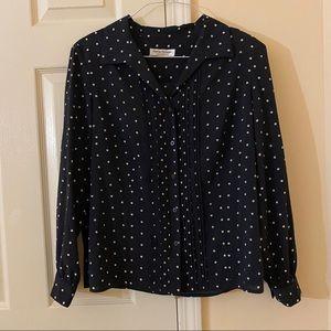 Rena Rowan polka dot v neck blouse